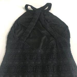 Topshop Black Backless Halter Neck Bodycon Dress 6